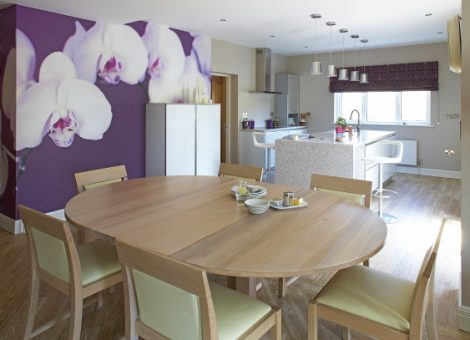 Open plan dining and living area by Linda Moffitt - Vision Interiors Sligo Ireland