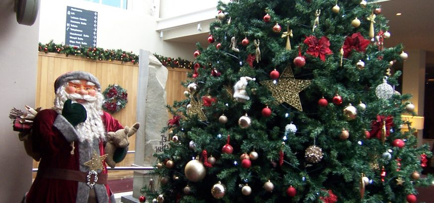 Christmas tree and Santa at the Sligo Park Hotel